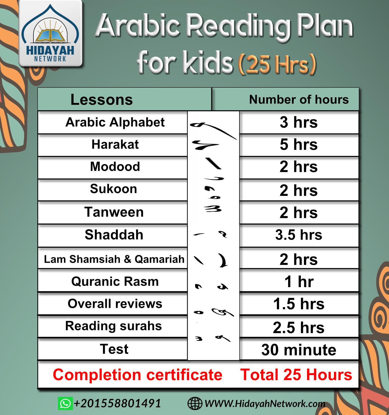 Arabic reading plan