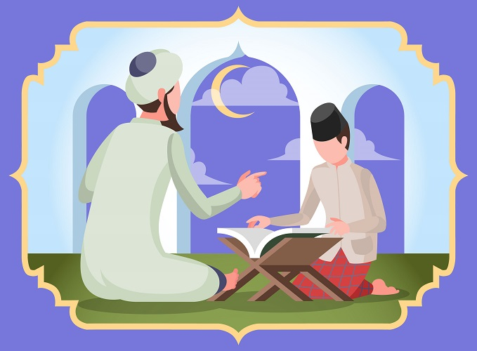 Quran recitation with tutor