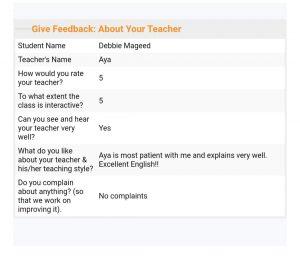 online hifz and Tajweed classes' feedback